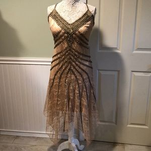Vintage Sue Wong Nocturne Beaded Asymmetrical Gown